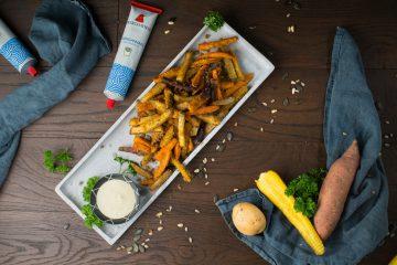 Knusprige Gemüsepommes mit Trüffel-Mayo