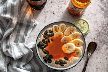 Smoothie Bowl mit Sanddorn FruchtGarten